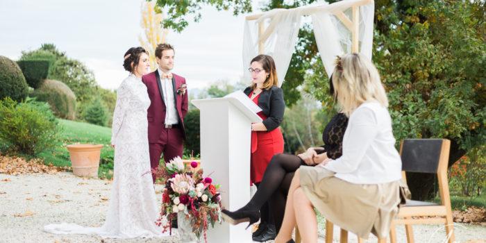 cérémonie laique mariage mirabel les blacons domaine de blacons